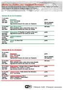 Schedule of activities - adults (PDF)