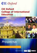 CIE - College of International Education Brochure (PDF)