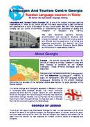Languages And Tourism Centre Georgia Folleto (PDF)