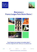 France Langue Paris Notre Dame Brosúra (PDF)