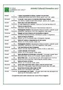 Schedule of activities - adults and juniors (PDF)