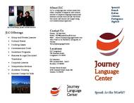 Journey Language Center Brochure (PDF)