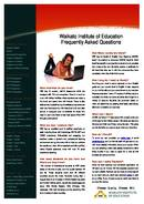 Waikato Institute of Education প্রচারপত্র  (PDF)