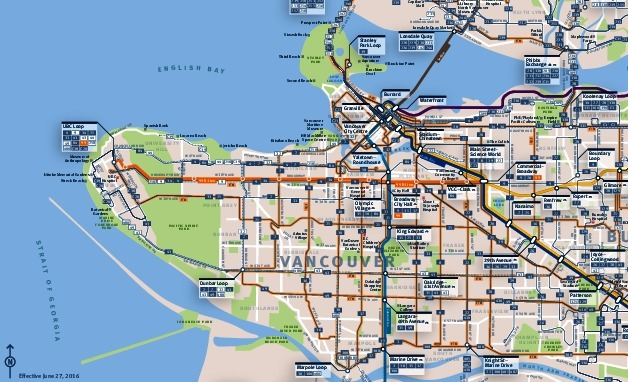public transport map thumbnail of Vancouver