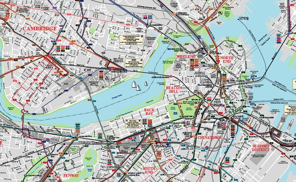 public transport map thumbnail of Boston
