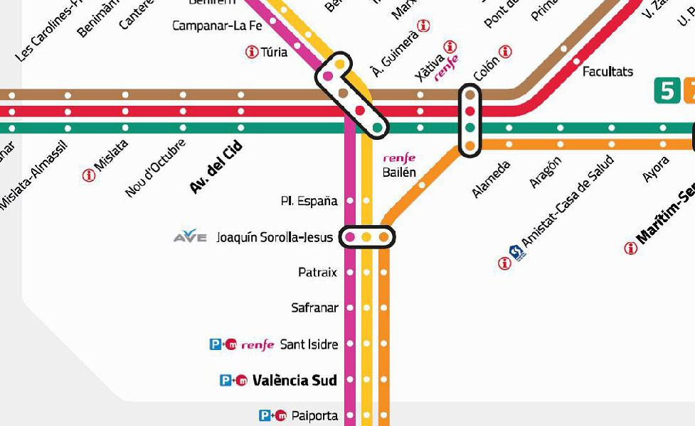 public transport map thumbnail of Valencia