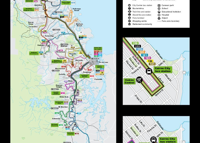 public transport map thumbnail of Cairns