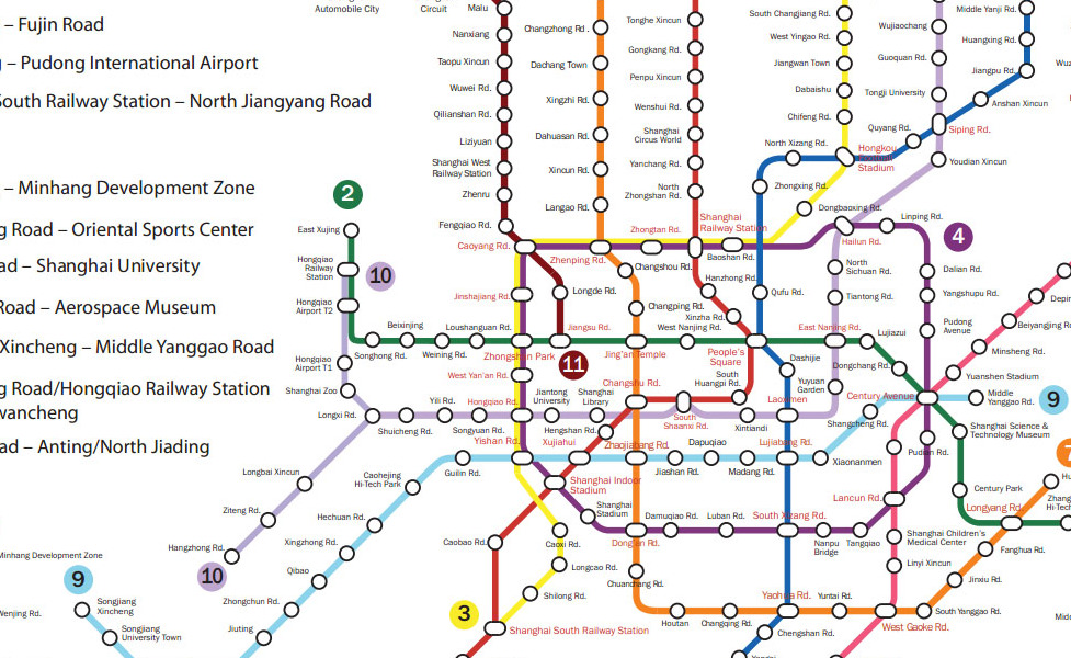 public transport map thumbnail of Shanghai