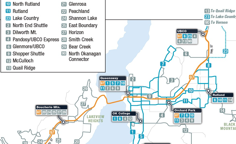 public transport map thumbnail of Kelowna