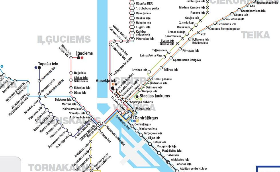 public transport map thumbnail of Riga
