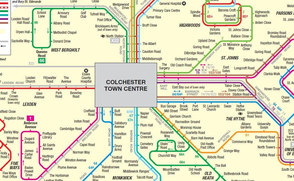 public transport map thumbnail of Colchester