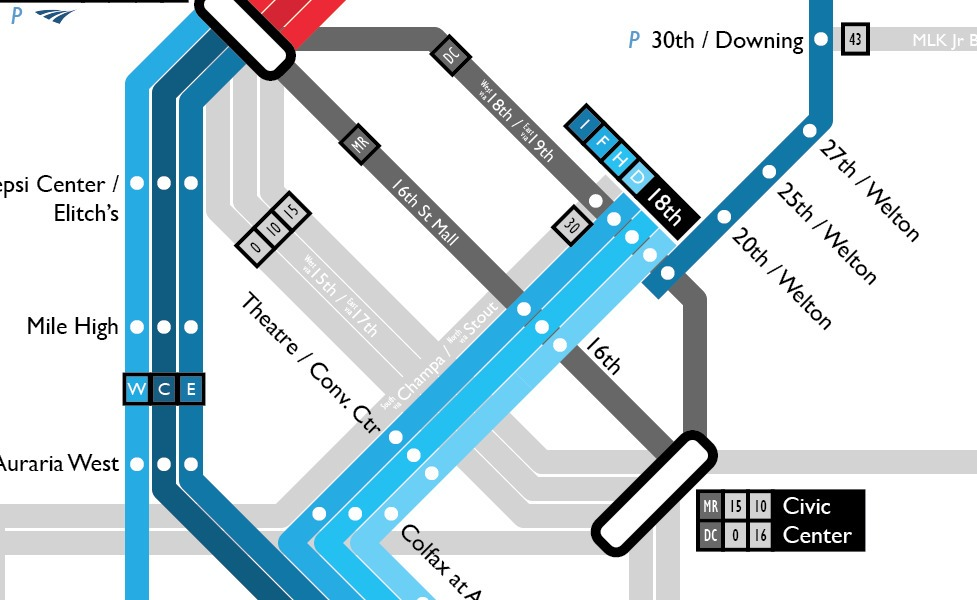 public transport map thumbnail of Denver