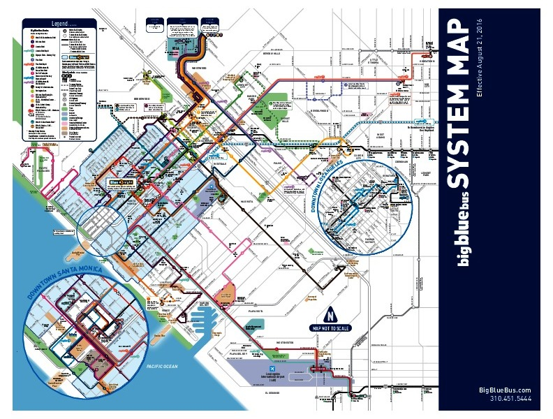 public transport map thumbnail of Santa Monica