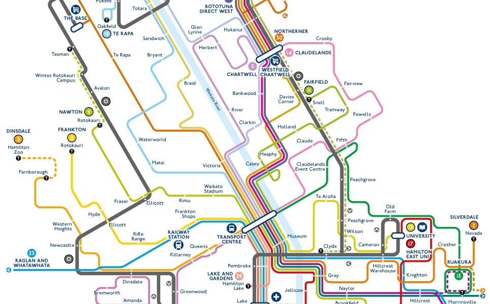 public transport map thumbnail of Hamilton