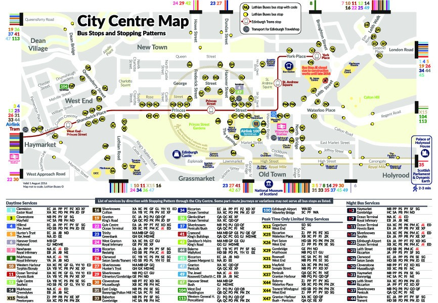 public transport map thumbnail of Edinburgh