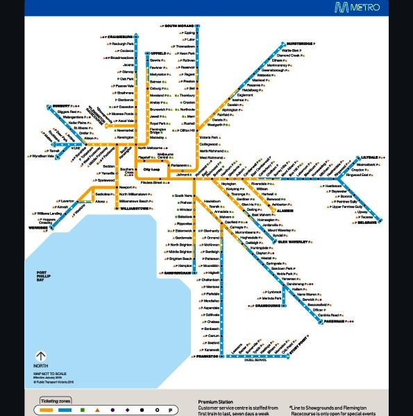public transport map thumbnail of Melbourne