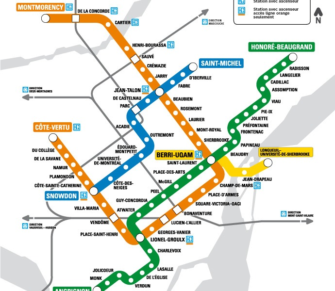public transport map thumbnail of Montreal