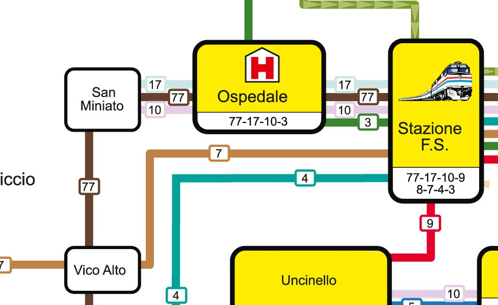 public transport map thumbnail of Siena