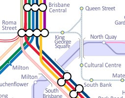 Brisbane Public Transport Map