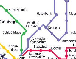 Lindau Public Transport Map
