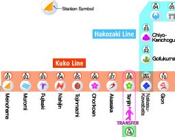 Fukuoka Public Transport Map