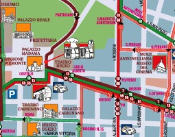Turin Public Transport Map