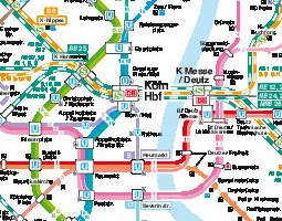 Cologne Public Transport Map