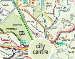 Cardiff Carte de transport public