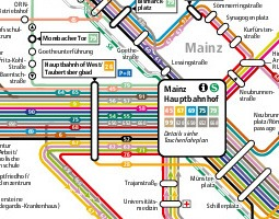 Mainz Public Transport Map