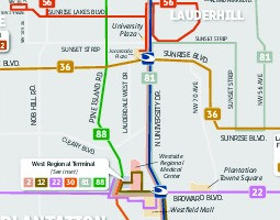 Fort Lauderdale Carte de transport public