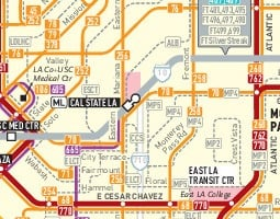 Los Angeles Carte de transport public