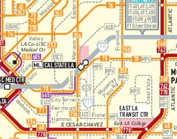 Los Angeles Public Transport Map