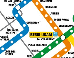 Montreal Public Transport Map