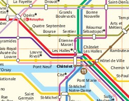 Paris Public Transport Map