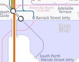 Perth Public Transport Map