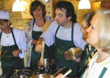 Cocinar y un curso de idiomas