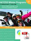 Juniori (alle 18 vuotta) ACCESS International English Language Centre (PDF)