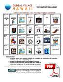 Juniorkurs (6-18 år) Global Village Hawaii (PDF)