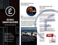 Ecole Saint Olivier (PDF)