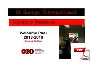 Vorbereitung aufs Universitätsstudium / Pathway St George International (PDF)
