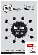 Programme pour Juniors (6-18 ans) Centre of English Studies (CES) (PDF)