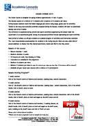 ジュニアコース(18歳未満) Accademia Leonardo (PDF)