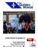Kombi: Gruppeundervisning + Privattimer École Québec Monde (PDF)
