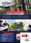 Junior (<18 years) The Oxford English Centre (PDF)