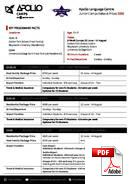 Junior (<18 lat) Apollo English Language Centre (PDF)