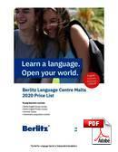 Kurz Junior (do 18 let) Berlitz Language Centre Malta (PDF)