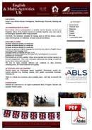 Juniorkurs (6-18 år) Anglophiles Summer School (PDF)