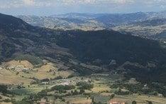 Principals destinacions: Bagno di Romagna (miniatura de la ciutat)